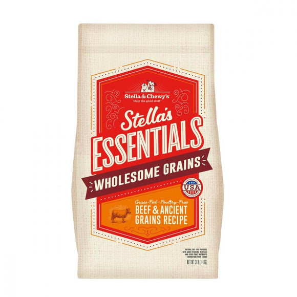 Stella & Chewy's Stella's Essentials Kibble Grass Fed Beef & Wholesome Grains Recipe Dry Dog Food