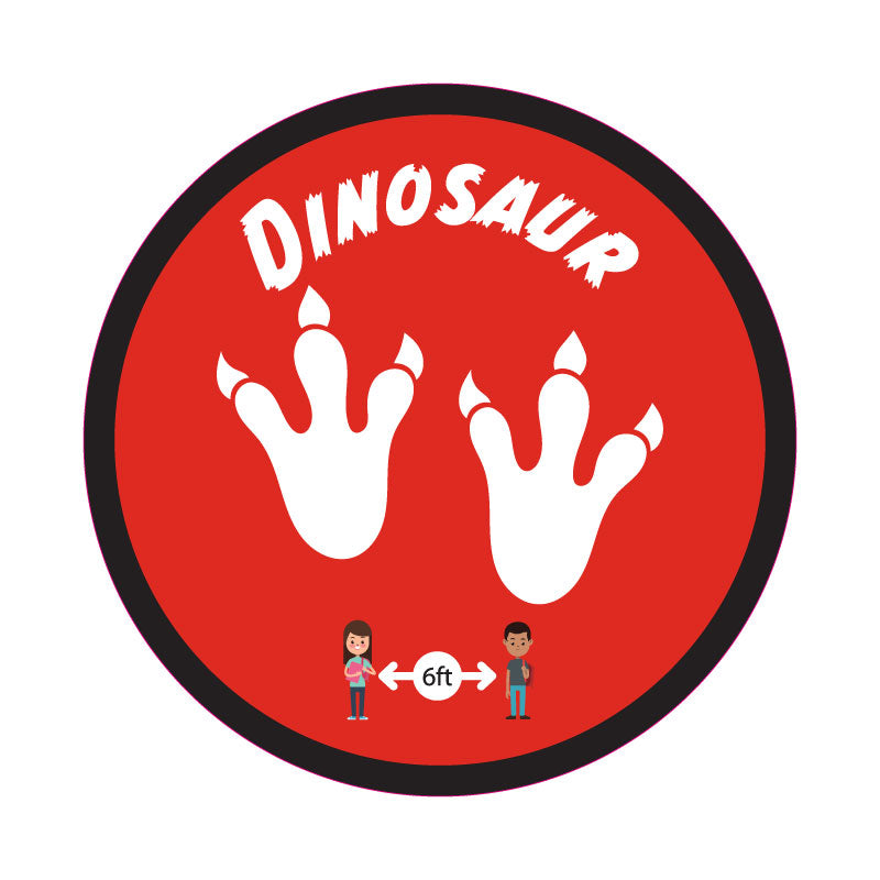 Dinosaur Graphic School Social Distancing Floor Decal