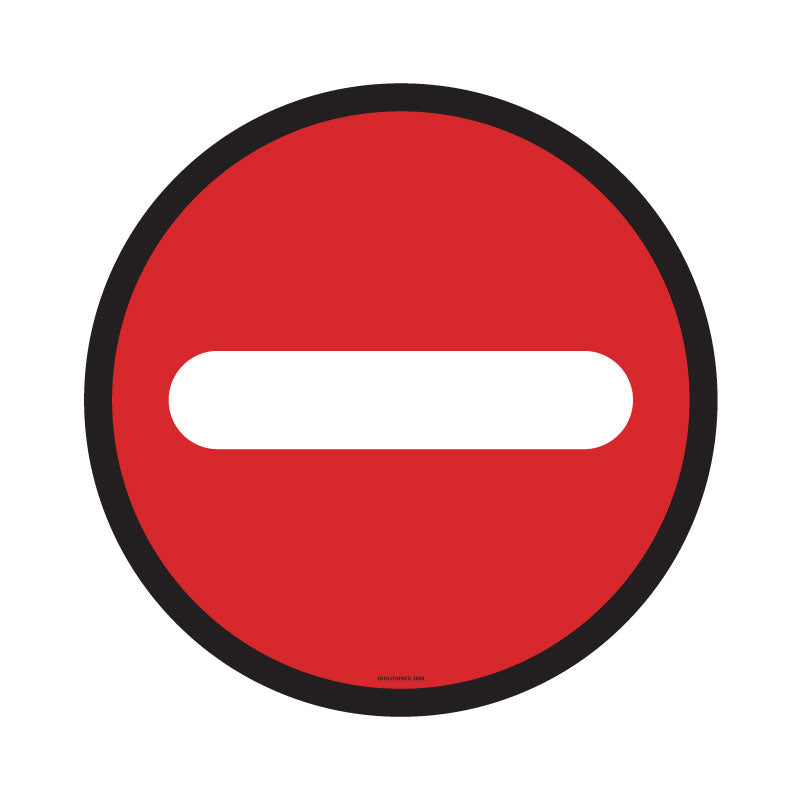 No Entry Retail Floor Decal