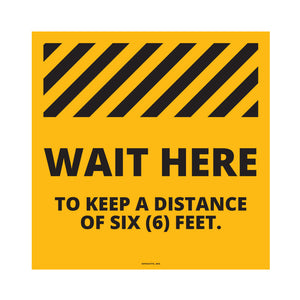 Wait Here Retail Floor Decal