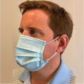 Disposable Level 3 Surgical Face Mask. 3 Ply with Earloop. Comply iwth ASTM F2100 Level 3 Standard.