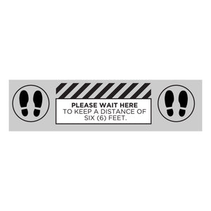 """Please Wait Here"" Floor Graphic (Outdoor Use)"