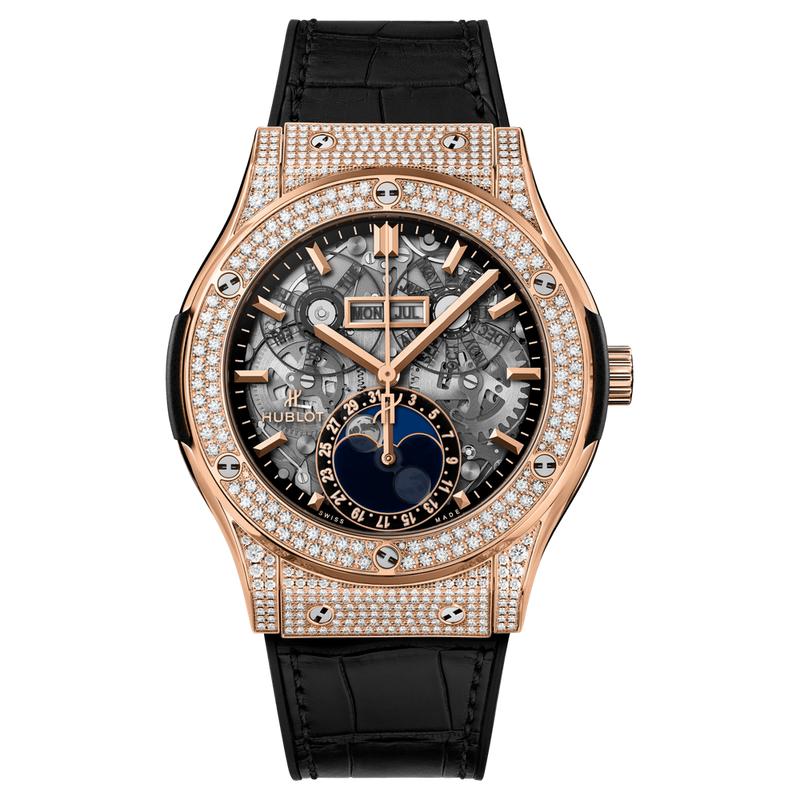 Aerofusion Moonphase King Gold Pavé