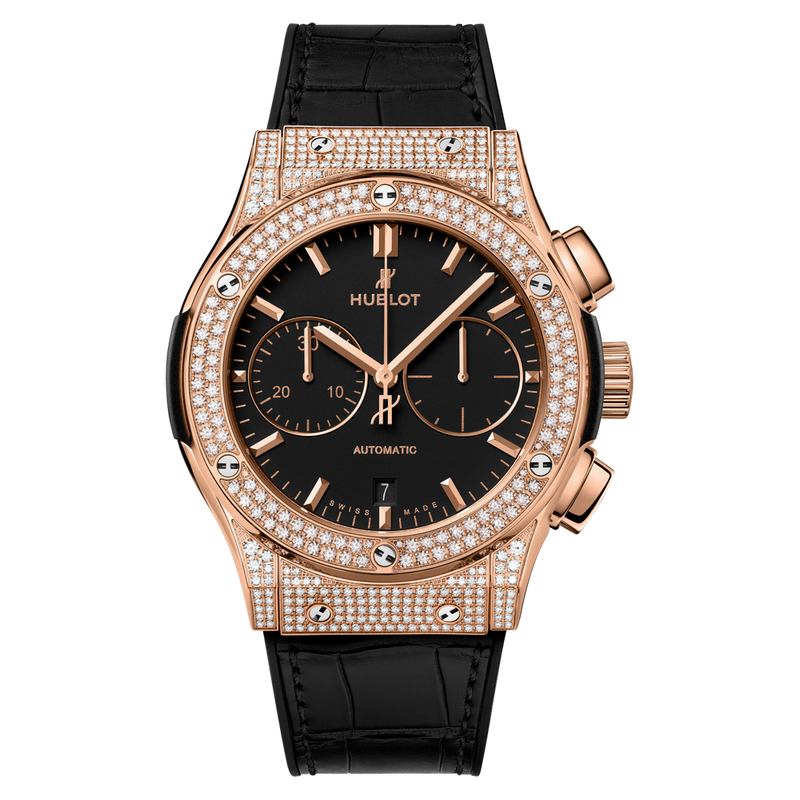 Chronograph King Gold Pavé