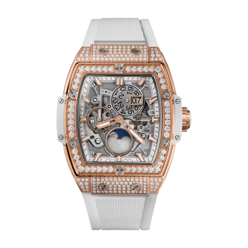 Moonphase King Gold White Pavé