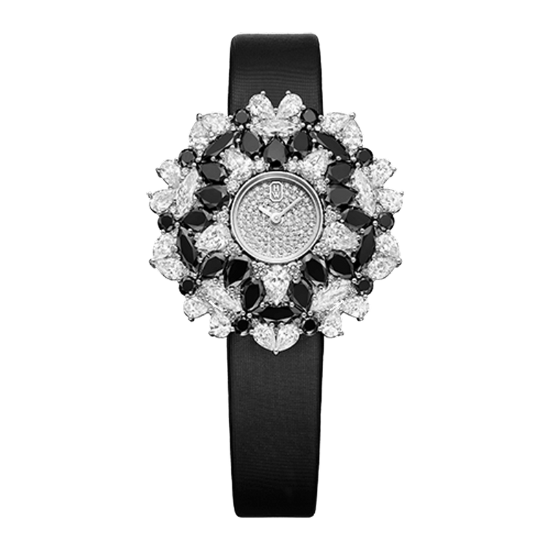 Winston Kaleidoscope High Jewelry Watch Black & White by Harry Winston