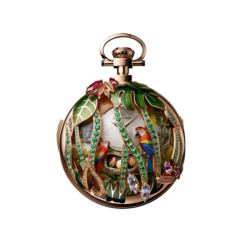 Parrot Repeater Pocket Watch