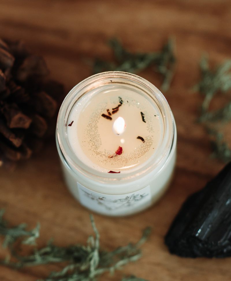 earth element soy intention candle
