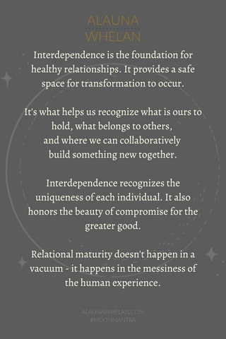 libra new moon mantra on grey background with lunar graphic