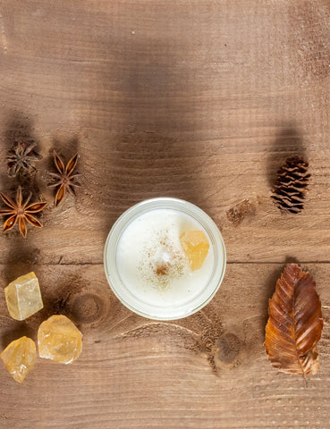 botanical intention autumn spice soy crystal candle