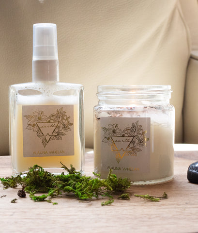 earth candle and ritual mist
