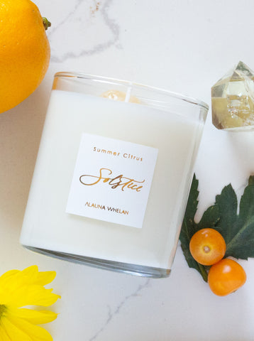 summer citrus solstice intention candle