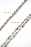 rolo and satellite chain styles side by side