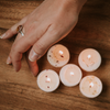 Five soy tealight candles