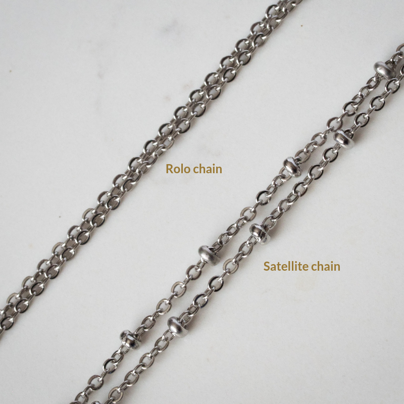 rolo and satellite chain styles