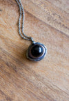 agate eye crystal talisman necklace
