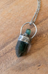 green gemstone crystal talisman necklace