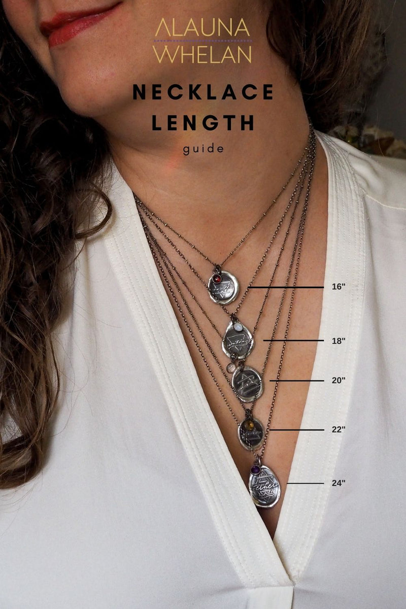 necklace length guide for alauna whelan element sign necklaces