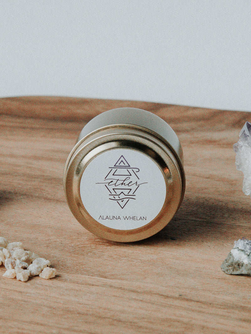 ether botanical travel tin candle