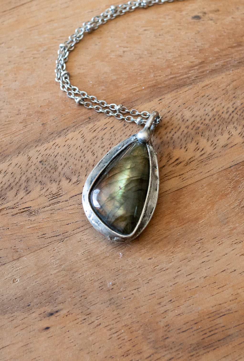 labradorite crystal talisman necklace