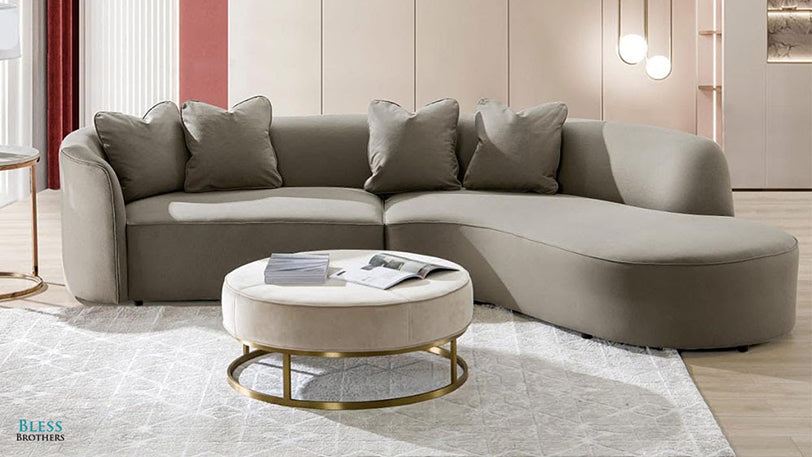 Fabric Sofa in a Living Room
