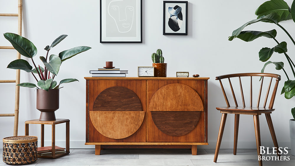 new and old designer furniture mix