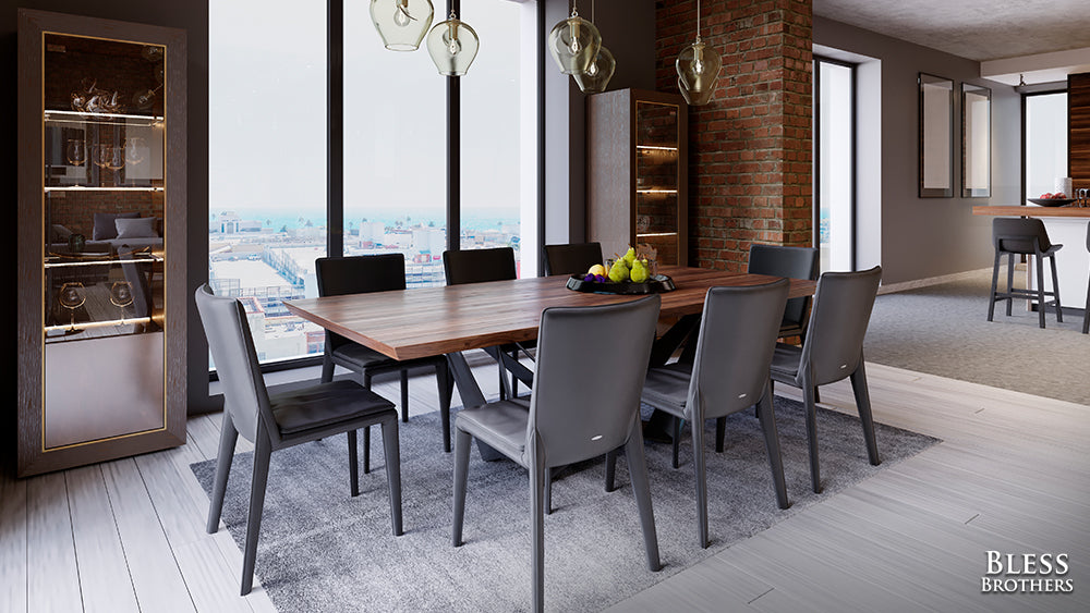 rectangle dining table set
