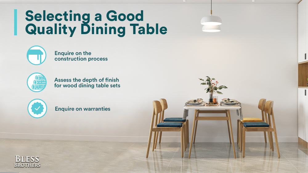 selecting a good quality dining table