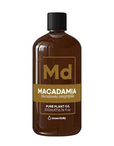 Macadamia Pure Cold Pressed Organic Carrier Oil - Essentially Co Australia