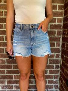 Maui High Rise Denim Shorts