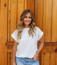 Load image into Gallery viewer, Basic Babe- Butter White Top