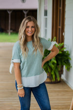 Load image into Gallery viewer, Seafoam Striped Top
