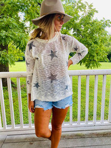 Starry Night - Knit Cream Sweater
