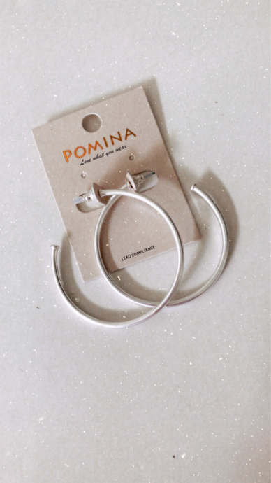 Silver Moon Hoop Earrings