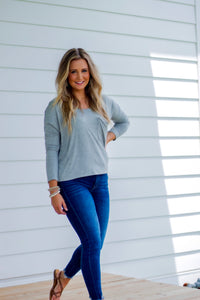 Lazy Day Gray Top