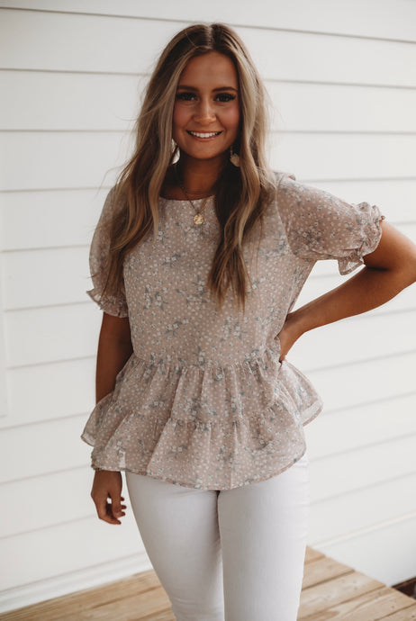 Wildflower Peplum Top