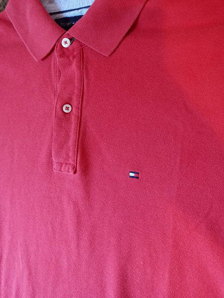 Tommy Hilfiger Crimson Polo Shirt
