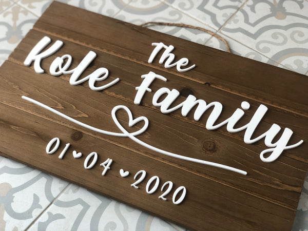 Custom Wood Name Sign