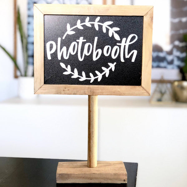 Photobooth Sign, Hashtag Sign, Guestbook Sign, Instagram Chalkboard, Chalkboard with Stand, Dessert Table Sign, Rustic Wedding Sign