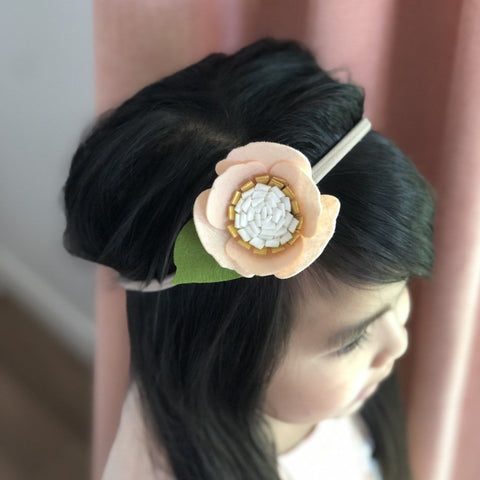 Felt flower headband / baby headband / felt flowers / flower crown / baby hair accessories / hair accessories / baby gift / floral headband