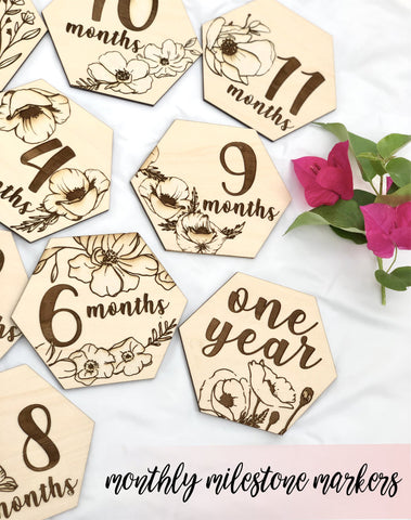 Baby Monthly Milestone Markers-Wholesale