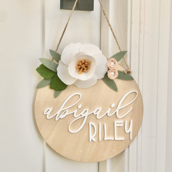 Wood and Acrylic Name Sign