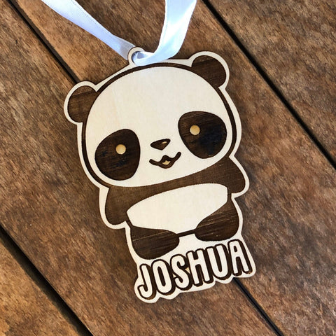 Panda Ornament, Children Ornament, Rainbow Ornament, Kids Ornament, Christmas Ornament, Personalized Ornament, Unicorn Gift, 2019 Ornament