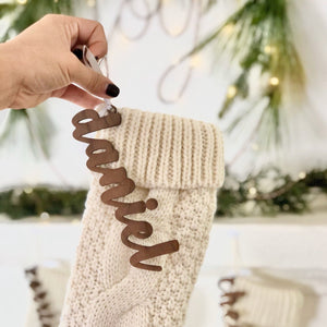 Stocking Name, Personalized Stocking, Stocking Personalization, Christmas Stocking, Names for Stocking, Christmas Decoration, Name Ornament