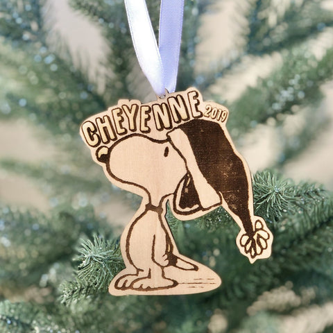 Personalized Snoopy ornament, Snoopy Christmas Ornament, Charlie Brown Christmas, Peanuts Christmas, Personalized Ornament, Custom Snoopy