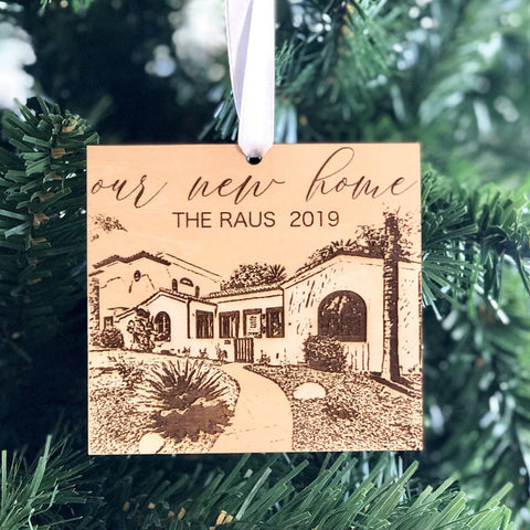 Our First Home Ornament, New Home Ornament, Housewarming Gift, Gift for New Homeowner, First Home Gift, Our New Nest, Custom Ornament
