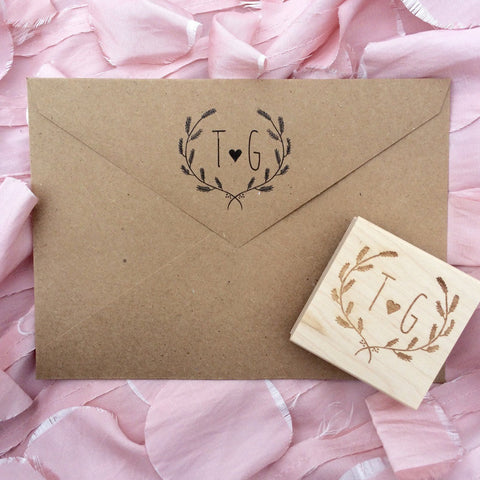 Initial Stamp / Save the Date Stamp / Wedding Stamp / Love Stamp / Valentines Stamp / Monogram Stamp / Arrow Stamp / Return Address Stamp