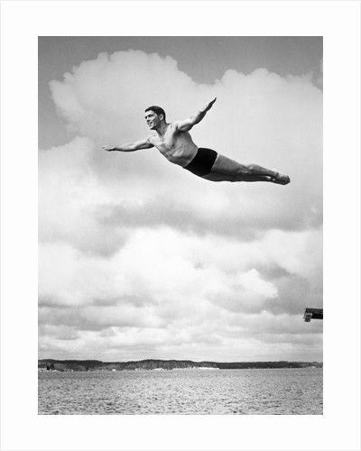 Gracefully executing the Swan Dive, 1930s