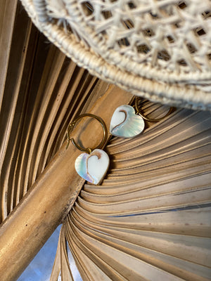 Nautilus Heart Earrings