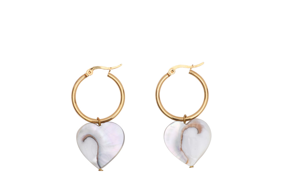 Load image into Gallery viewer, Nautilus Heart Earrings